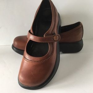 Dansko Shoes Mary Janes Brown Button Leather